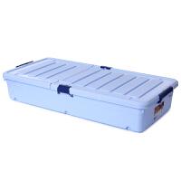 特大号床底收纳箱超长版塑料整理箱床下滑轮储物箱被子衣物零 超长版长96宽46高18厘米