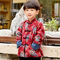 男童唐装冬儿童抓周服中国风童装过年喜庆宝宝装婴儿汉服礼服 红龙神唐装