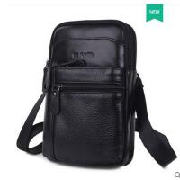 户外牛皮多功能单肩小包手机包男穿皮带腰包大容量迷你挂包袋