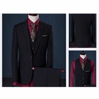 西装套装男士三件套商务职业正装西服韩版修身伴郎团新郎结婚礼服