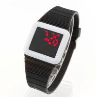 LED超薄电子表 硅胶电子表 学生手表 石英表 情侣手表