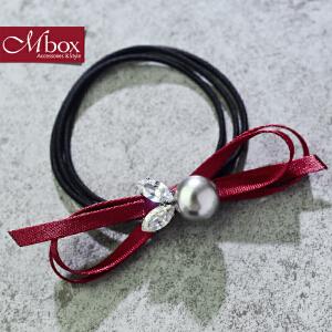 新年礼物Mbox发圈 女款韩国版时尚简约设计发饰边夹顶夹发夹发绳 兔子小姐