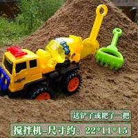挖机玩具车小号沙滩挖土机大号儿童挖掘机玩具四轮套装小号工程车小型压路铲铲车A
