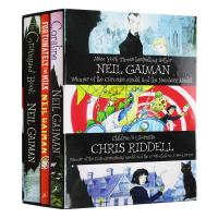 尼尔盖曼3册盒装 英文原版小说 Neil Gaiman 坟场之书 鬼妈妈 爸爸去哪儿了 The Graveyard Bo