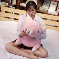 ?趴趴猪毛绒玩具公仔玩偶娃娃抱枕可爱睡觉女孩懒人萌韩国搞怪大号