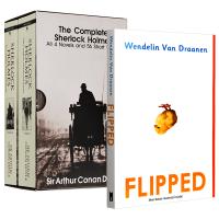 英文原版小说 flipped 怦然心动 英文原版青春爱情小说+福尔摩斯探案全集 Sherlock Holmes 英文原