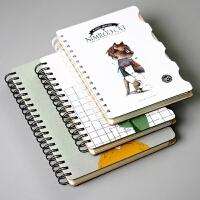 韩国文具简约小清新创意线圈本 分类隔页笔记本 随身记事本小本子