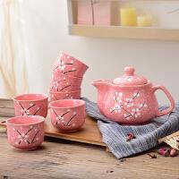 餐厅家用陶瓷茶具套装喝茶泡茶茶壶茶杯套 8件
