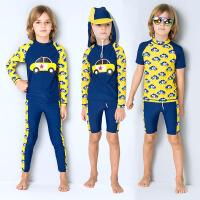 新款男童防晒长袖分体泳衣中大童学生泳装温泉儿童游泳套装