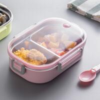 分格保温儿童学生餐盒保鲜不锈钢饭盒上班便当盒