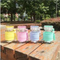 夏季韩国日本新款硅胶蘑菇杯300ml水杯创意儿童玻璃杯花茶杯