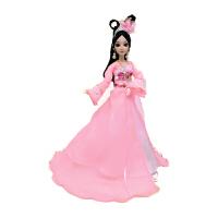 新品思美人芭比洋娃娃古装公主12关节仿真眼换装衣服玩具套装女孩 蜜桃粉 思美人 (盒装)