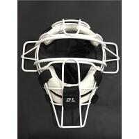 DL新款帝��棒球手套�a手面具�o具白面白框 捕手面罩