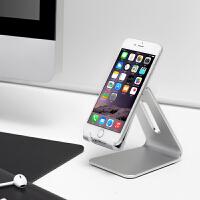 iphone手机支架 铝合金桌面床头懒人支架 苹果平板通用底座 银色