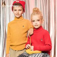 【3件3折:95.7元】暇步士童装冬季新款男童套头毛衣女童毛衣儿童纯色毛衣