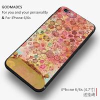 艺术创意苹果6手机壳个性6splus潮男女款iphone7plus硅胶全包防摔
