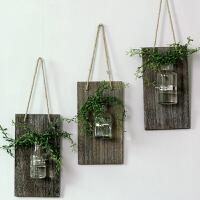 家居创意透明玻璃壁饰摆件 客厅阳台水培花器壁饰 玻璃花瓶壁饰装饰摆件