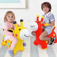 哈哈球 儿童充气玩具音乐跳跳鹿加厚 宝宝健身玩具马充气鹿 送充气泵 跳跳马