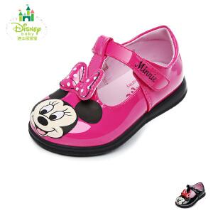 【清仓特惠】迪士尼Disney童鞋婴童学步鞋米妮小公主婴儿鞋宝宝学步小皮鞋时装鞋 (0-4岁可选) DH0206