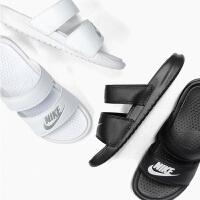 NIKE耐克女子 BENASSI DUO ULTRA SLIDE 绑带条带运动休闲拖鞋819717-602
