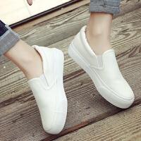 懒人鞋 松糕厚底帆布鞋女士韩版休闲鞋2019新款女式一脚蹬懒人小白鞋女板鞋子