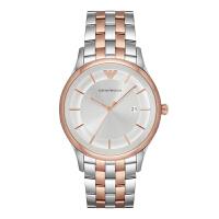 阿玛尼(Emporio Armani)手表 钢制表带男士经典时尚休闲石英腕表 AR11044