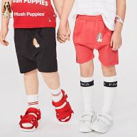 【抢购价:44元】暇步士童装夏季新款男女同款小童短裤时尚清凉舒适多色短裤儿童短裤(80-130)