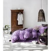 磨毛四件套纯色床单被套1.8m床套4件套床上用品