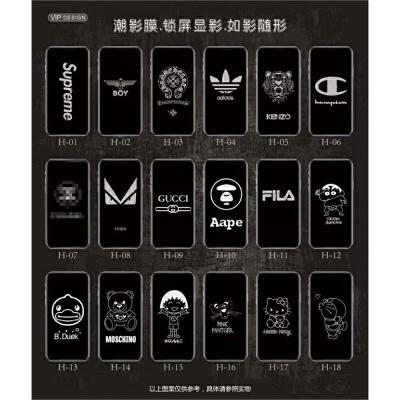 潮影钢化膜8plus苹果XR/XS Max卡通全屏闪钻息影彩膜iphone6s贴膜 6/7/8代 请拍这里备注图案顺序