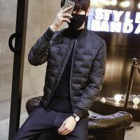 2018新款冬季男士轻薄羽绒服短款韩版潮流修身棒球领帅气青年外套
