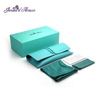 Jardin d'amour JA太阳镜眼镜盒复古眼镜皮套便携软皮蒂芙尼蓝墨镜旅行防刮花眼镜包装袋JAPJKBKS