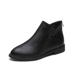 WARORWAR新品YM82-T385冬季韩版平底鞋舒适女士靴子切尔西靴裸靴