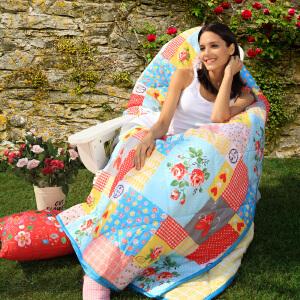多喜爱家纺 mmk全棉空调被 田园夏被水洗 夏凉被卢森伯格家的玫瑰