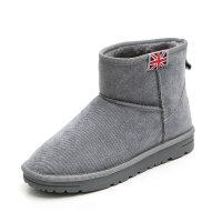 冬季新款韩版雪地靴女学生百搭短筒短靴子保暖加绒棉鞋女