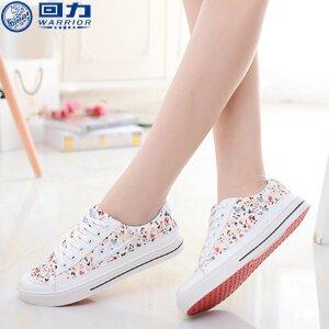 回力女鞋街拍帆布鞋女款秋季韩版白色平底休闲运动鞋小白鞋