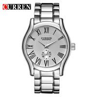 CURREN 卡瑞恩8061 男士大表盘防水石英手表 商务流行时装腕表