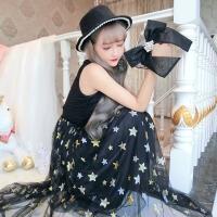 欧美范韩版时尚气质性感无袖气质重工礼服长裙派对连衣裙潮 超仙