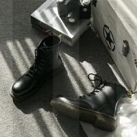 【B&N】经典8孔马丁女靴英伦风帅气牛皮短靴复古圆头加绒平底女靴SN7277