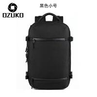 双肩包男士商务休闲多功能大容量旅行包17寸电脑包出差大背包男SN5036