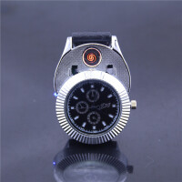 充电打火机 男士腕表手表防风创意个性USB点烟器