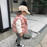 2018婴童装女童棉马甲宝宝保暖坎肩秋冬百搭儿童轻薄羽绒棉马甲