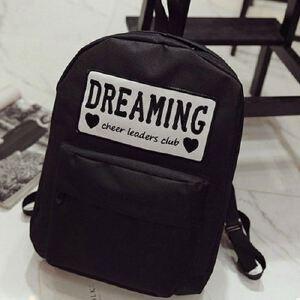 新款韩版潮时尚学生书包 字母印花帆布背包