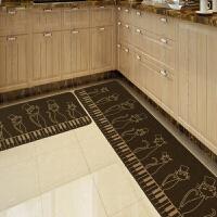 厨房地垫门垫吸水吸油长条地垫防油防滑家用地垫可机洗地毯脚垫/