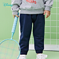 【129元3件】迪士尼Disney童装 宝宝运动长裤春季新款米老鼠织章休闲裤男童百搭束脚裤子191K844