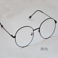 防蓝光近视眼镜框女圆平光电脑防辐射眼镜女韩版潮护目复古小清新