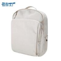 云朵工厂新款书包女学生双肩包轻便休闲旅行背包纯色电脑背包