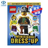 英文原版 LEGO Minifigure DressUp Ultimate Stick 乐高 迷你人物 贴纸书 超100