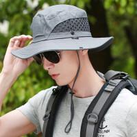 男士遮阳帽户外夏天渔夫草帽凉帽太阳帽夏季