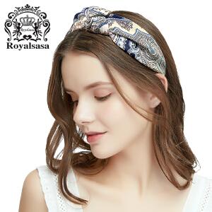 皇家莎莎韩国蝴蝶结发箍布艺宽边头箍简约甜美发卡发夹头饰森女系