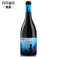 傲鱼红酒智利原装进口珍藏海底摩艾01干红混酿葡萄酒750ml*1